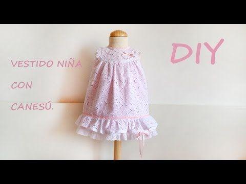 Vestido niña con canesú. Costura vestido de niñas. - YouTube