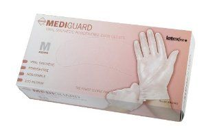 MIIMSV403 Synthetic Exam Gloves, Powder-free, Large, 100/BX (MIIMSV403. by Medline. $9.33. 100/BX. MSV403. Large. Category Tree: Exam Gloves > Vinyl/Synthetic Exam Gloves > Powder-Free > MediGuard Select Synthetic Exam Gloves >. 0. Synthetic exam gloves offer nonsterile protection for general patient care. Latex-free gloves are made of vinyl and offer tactile sensitivity and durability.. Save 28% Off!