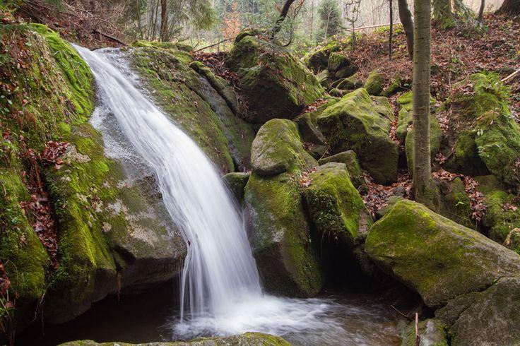 Wodospad na rzece Stryszawce