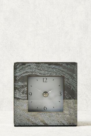 Glitter Mantle Clock