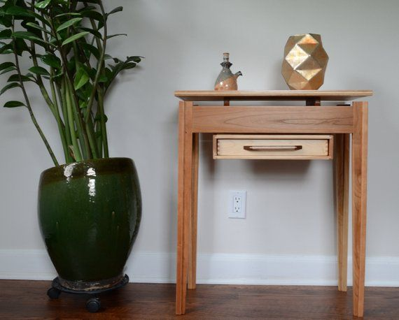 Corner Table With Draw Entrance Table Mid Century Modern Table Modern Table End Table Floating Top Table Mid Century Modern Table Entryway Table Modern Narrow Console Table