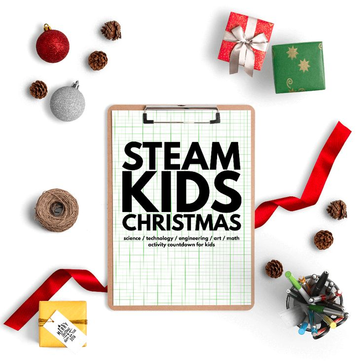 25 Christmas Science, Technology, Engineering, Art and Math activities! STEAM is engaging educational fun for kids. Countdown to Christmas, advent activities and more. (aff)