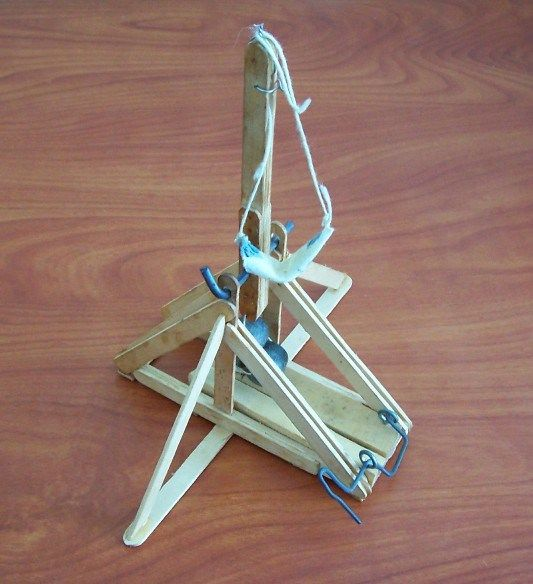 10 Terrific Trebuchets | Popsicles, Backyards and Catapult  How To Build A Catapult With Popsicle Sticks