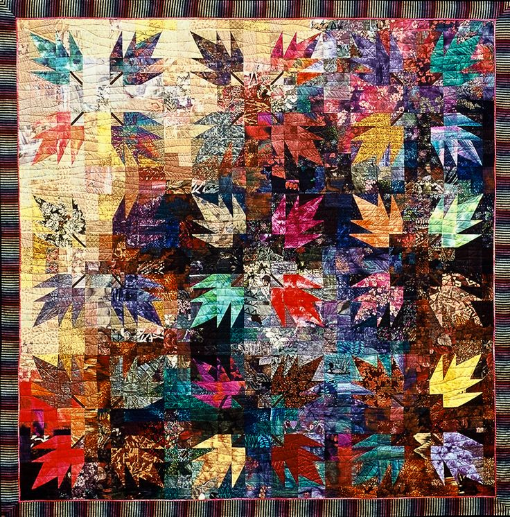 496 Best Leaf Quilts Images On Pinterest Quilting