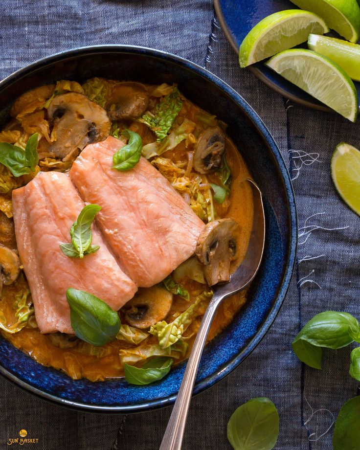 Toss those take-out menus into the recycling bin. You'll have this knockout Thai curry on the table before the delivery guy can get to your door. If you've never cooked Thai food, this simple dish offers a great introduction to the Southeast Asian pantry, with ingredients like red curry paste and aromatic lime leaves. #plaeo #glutenfree #dairyfree #soyfree #spicy #lowcalorie