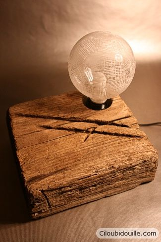 Lampe morceau de bois | Ciloubidouille