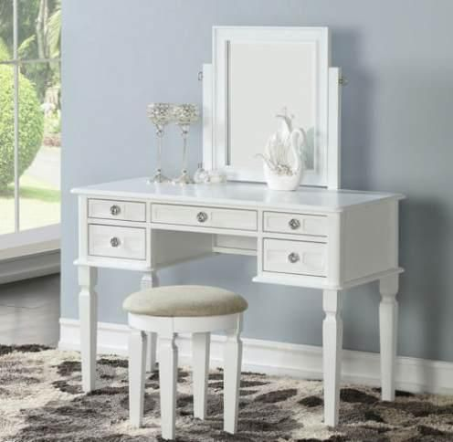 Best Details About Bedroom White Vanity Makeup Table W 400 x 300