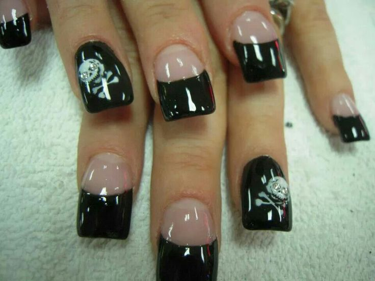 Acrylic nail designs skulls howto d skull flowers nail art tutorial best halloween acrylic nails prinsesfo Image collections