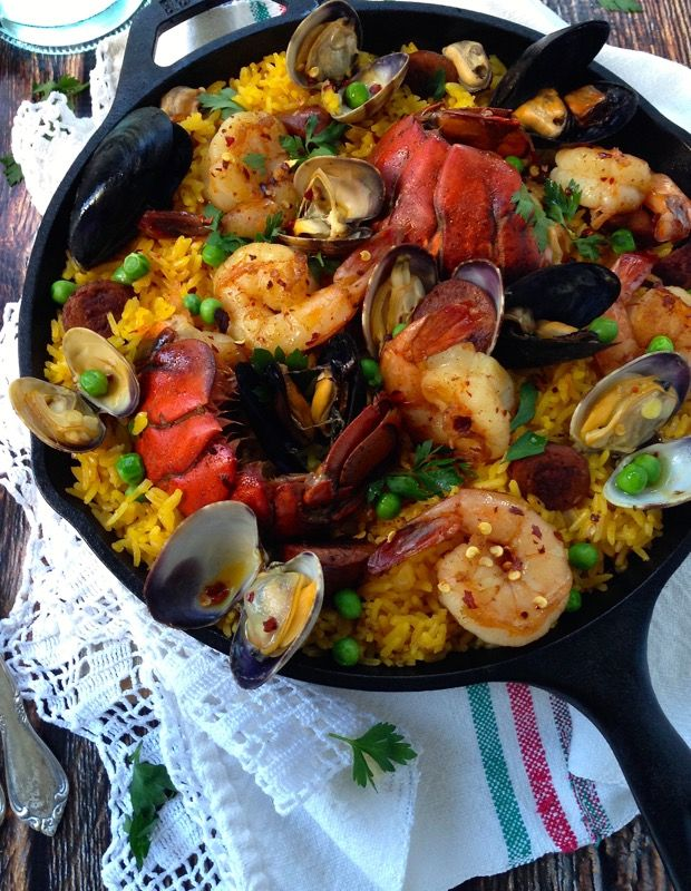 Spanish Healthy Paella Recipe #paella #healthy Www.CiaoFlorentina.com