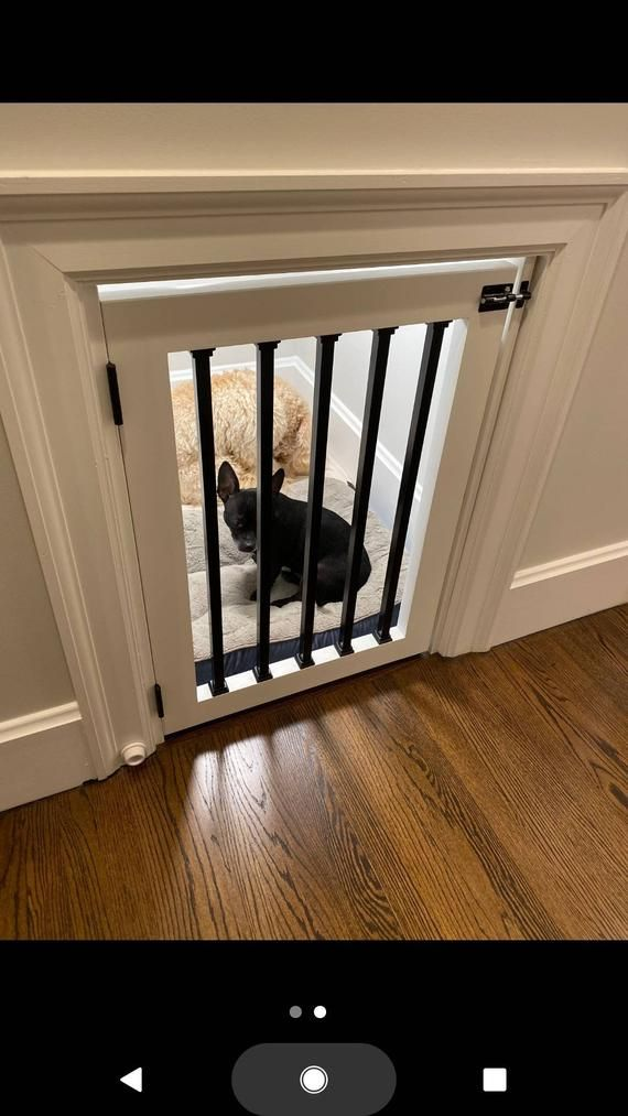 Custom Dog Gate And Baby Gate For Nook Stairs Door And Hall Etsy Dog House Inside Under Stairs Dog House Under Stairs