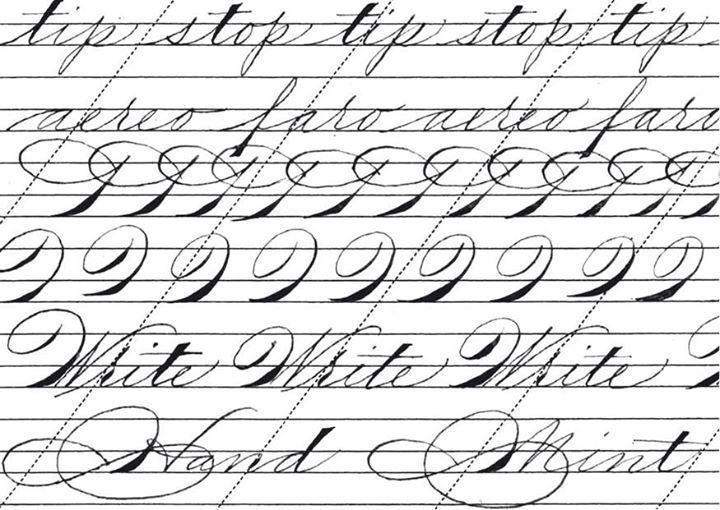 Assez Oltre 25 idee originali per Font di calligrafia su Pinterest  VC86