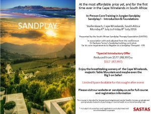 Sandplay training, Stellenbosch, Cape Town; July 2016