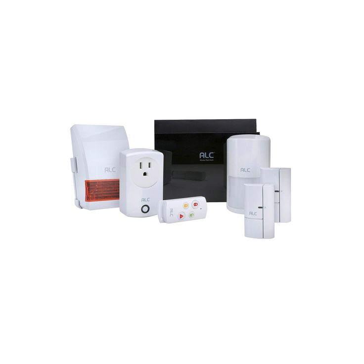 Alc Wireless Security System Protection Kit - Black/ White (AHS616), Black\White