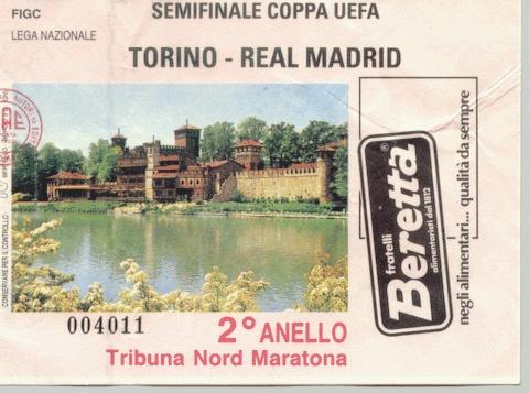 Torino - Real Madrid 2-0, UEFA Cup semifinal (2nd leg)