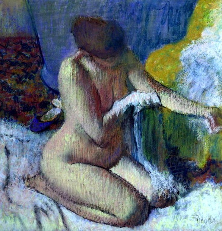 After The Bath / Edgar Degas