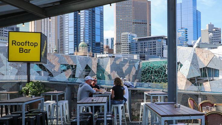 """WHO: Transit Rooftop Bar WHAT: Rooftop with a view WHERE: Level 2, Transport Hotel, Federation Square, Melbourne """"The ideal location to sit and take in the surreal surroundings over something expertly shaken or stirred."""""""