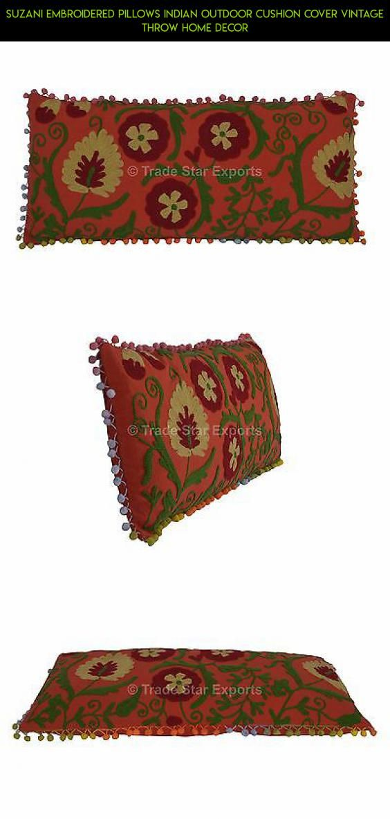 Suzani Embroidered Pillows Indian Outdoor Cushion Cover Vintage Throw Home Decor #gadgets #kit #shopping #plans #technology #parts #camera #fpv #drone #tech #outdoor #products #decor #racing #indian