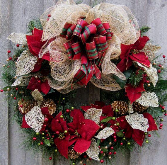Christmas Wreath Holiday Wreath Elegant Holiday Designer Christmas