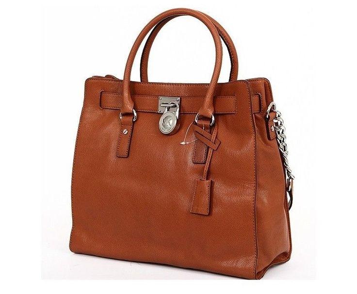 NWT Michael Kors HAMILTON Large NS Leather Tote Handbag Luggage 30F91HMT3L #MichaelKors #TotesShoppers