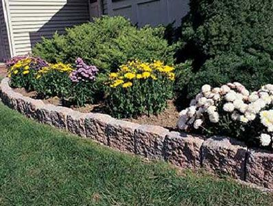 Landscape edging stones stone look of coventry - Stone edging for garden beds ...