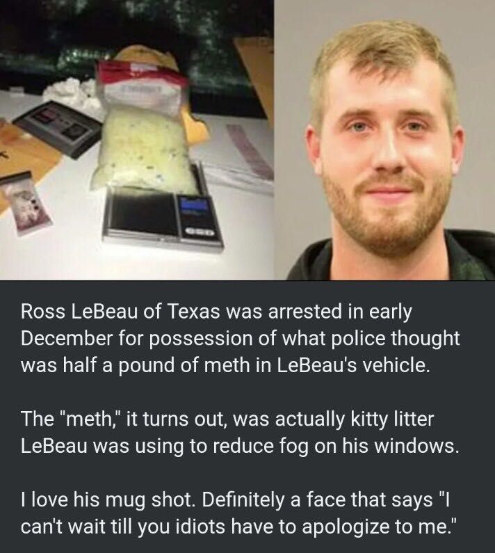 Mugshot of the year goes to...