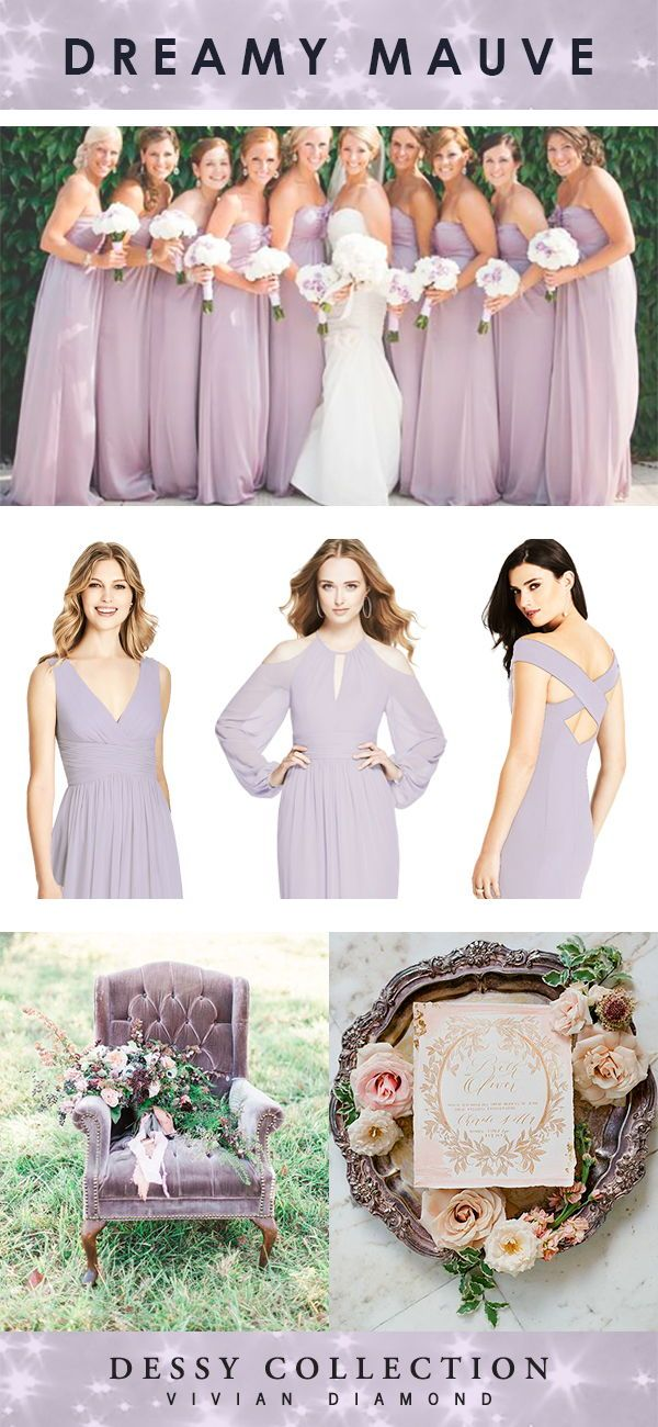 Dreamy Mauve Bridesmaids Dresses From The Dessy Collection By Dessy Group Purple Bridesmaid Dresses Mauve Bridesmaid Dress Mauve Bridesmaid