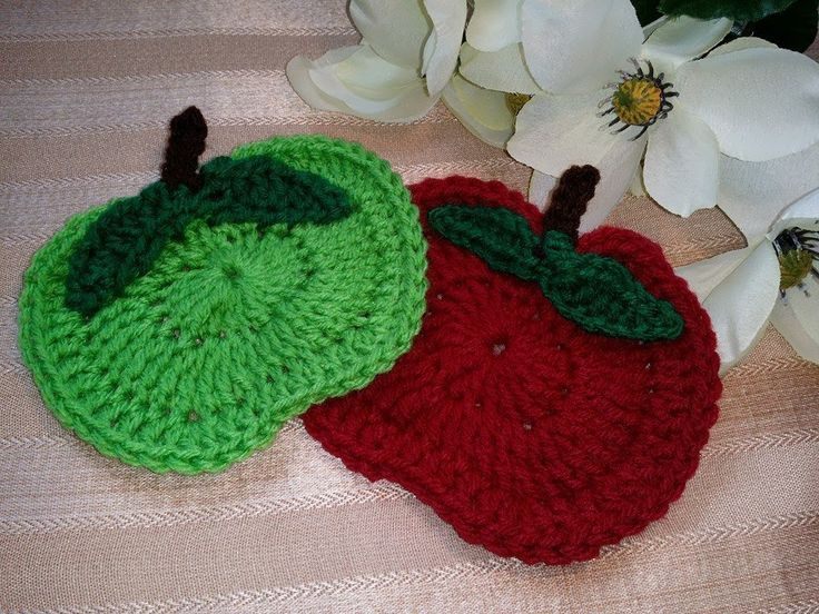 Video Tutorial: How To Crochet Glama's Apple Orchard Coasters by  Made With Love By Glama