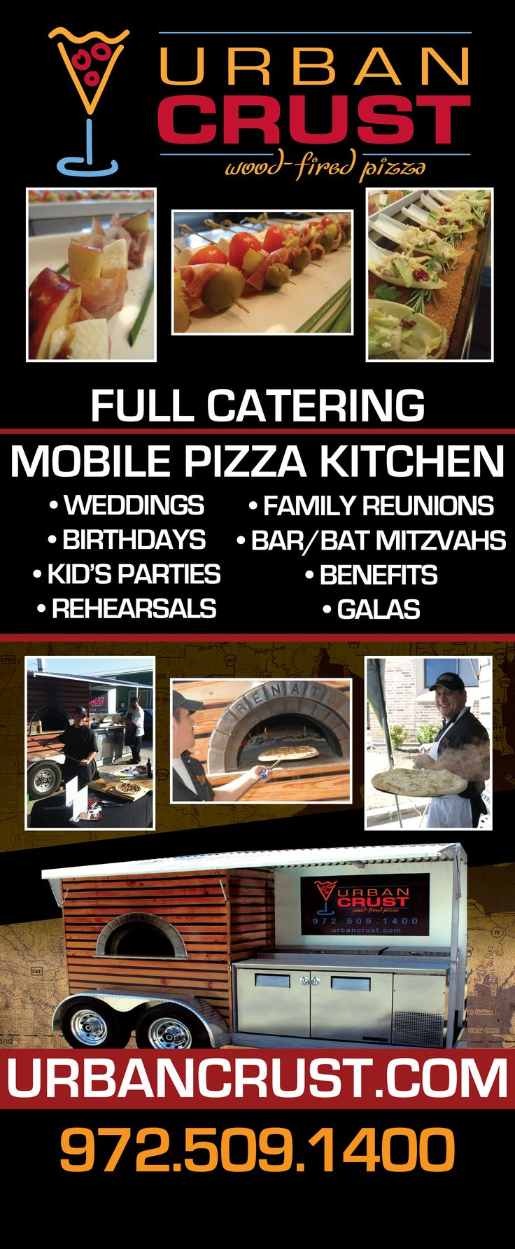 AWESOME pizza. Mobile Wood-Fired Oven