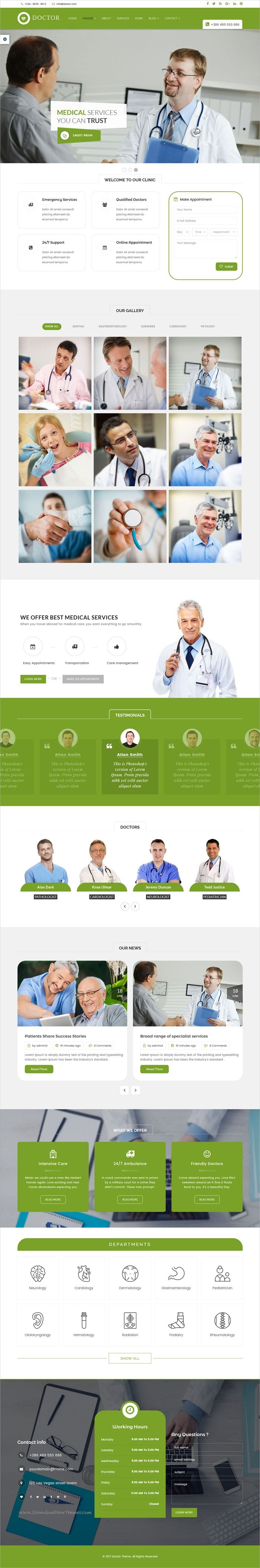 Doctor is clean and modern design responsive #HTML5 template for #medical and #healthcare website download now➩ https://themeforest.net/item/doctor-medical-health-html-template/19792074?ref=Datasata