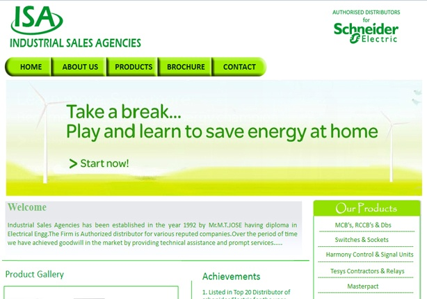 The client is an authorized distributor of Schneider Electric in Maharashtra from the past few decades and wanted a company website with features like flash banner, scrolling images, image lightbox and linking with products on official Schneider website.