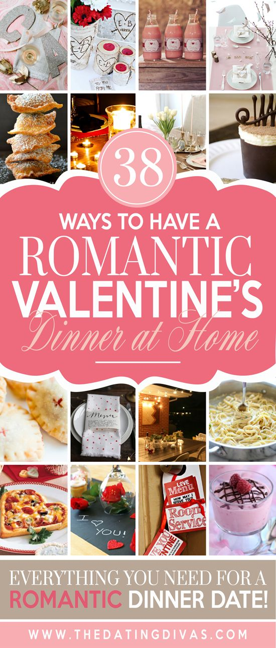 All the ideas you need for a romantic dinner date! www.TheDatingDivas.com