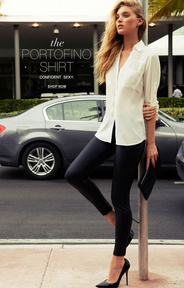 Love The Dress Shirt And Heels With The Leggings | Clothes-spiration | Pinterest | Sophisticated ...