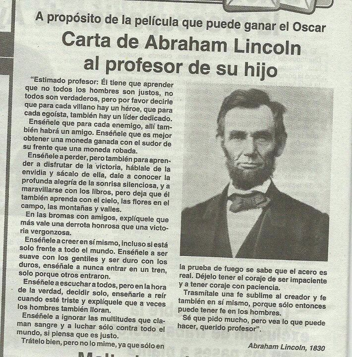 Carta de Abraham Lincoln