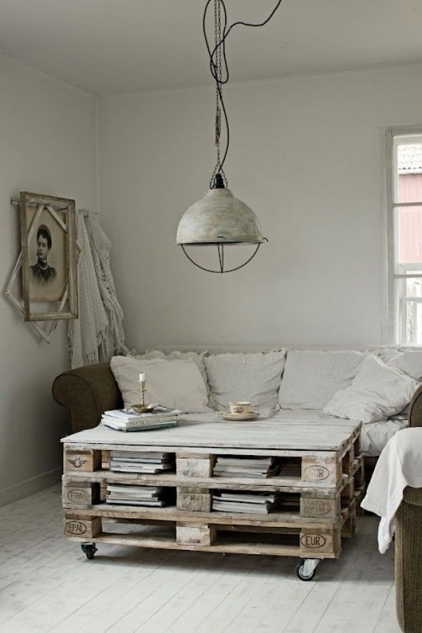 Love this wood pallet coffee table