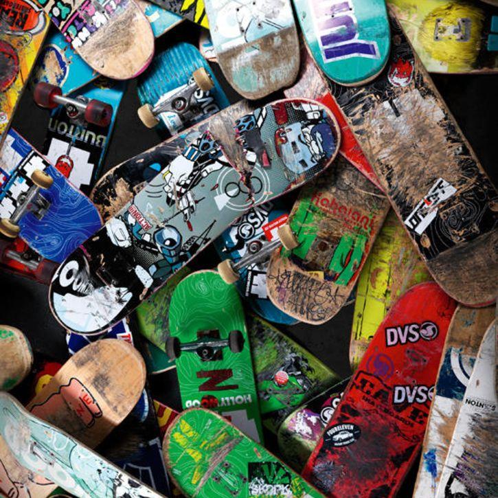 Broken Skateboards Children S Wallpaper Scene Nubie Kids Kids Wallpaper Skateboard Skateboards