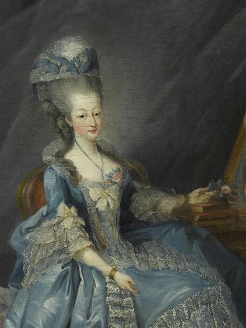 Marie-Thérèse de Savoie, comtesse d'Artois by Jean-Baptiste-André Gautier d'Agoty, ca 1775 France, Versailles