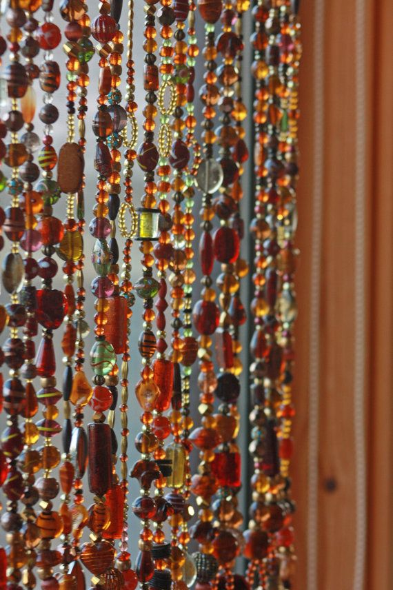 The 25 best hanging door beads ideas on pinterest macrame curtain hanging beads and beaded - Glass beaded door curtains ...