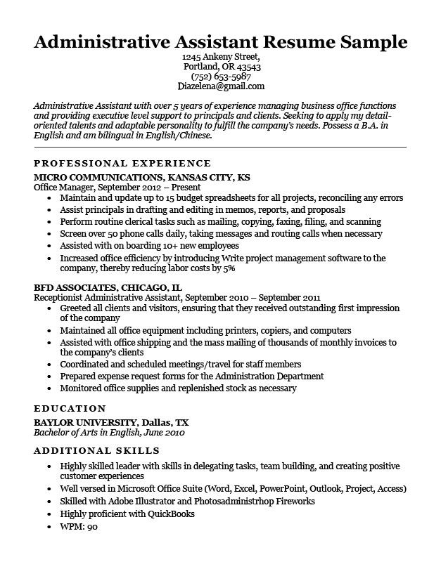 Administrative Assistant Resume Example Write Yours Today Administrative Assistant Resume Administrative Assistant Jobs Medical Assistant Resume