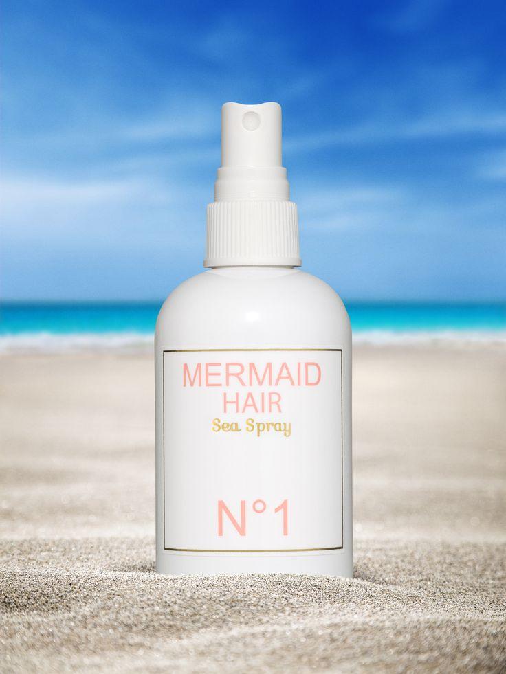 introducing mermaid hair sea spray... for effortlessly tousled beach waves...