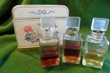 1930's Bienaime Parfum Presentation with 3 Perfumes~Caravane, Fleurs D'ete, Cuir de Russie