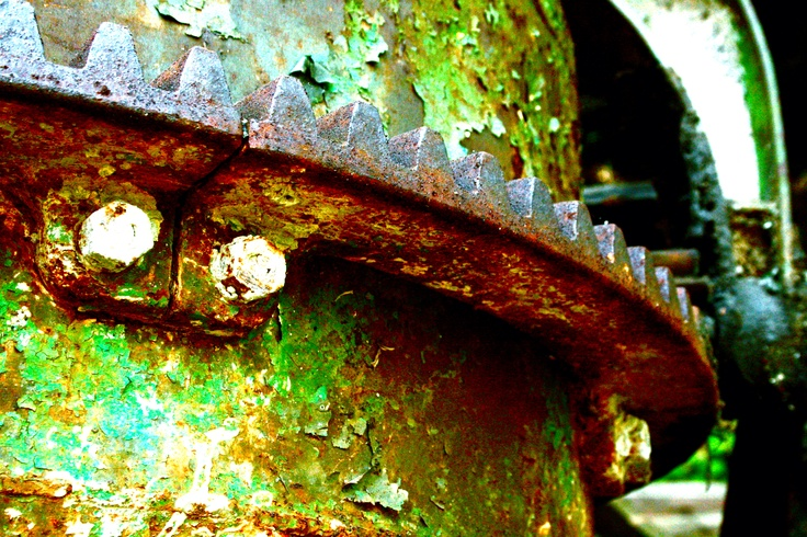 old green paint and rust...