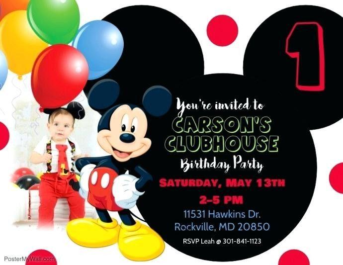 16 Awesome 1st Birthday Invitation Card In Marathi Language Image Mickey Mouse Birthday Invitations Birthday Invitation Templates Mickey Mouse Birthday