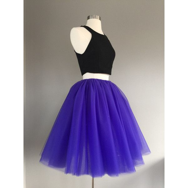 Purple Tulle Skirt Adult Bachelorette Tutu Adult Tutu Adult Tulle... (84 NZD) ❤ liked on Polyvore featuring skirts, grey, women's clothing, short mini skirts, gray tulle skirt, high waisted long skirt, tutu skirts and long skirts