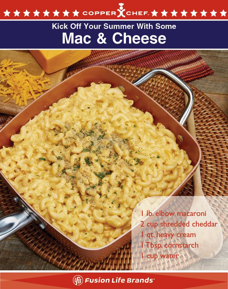 Mac and Cheese in one pot easy with your Copper Chef square pan!