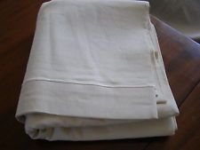 VINTAGE SHEET  ECRU LINEN METIS    UNUSED      208 X 314  CMS