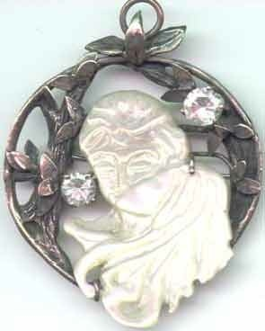 'Lovers Kissing'  Stirling Silver and Mother of Pearl from Broome by Caren Engelbrecht