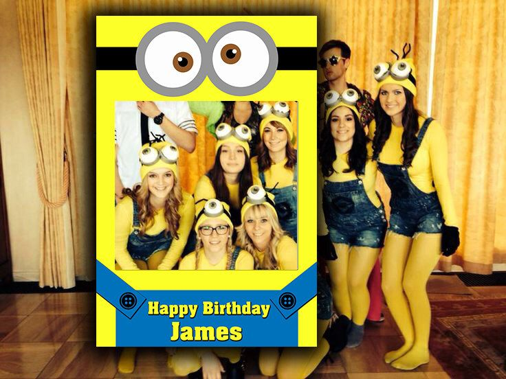 Minions Photobooth Frame | Photobooth Prop | Birthday Props | Childs Photo Frame | Photo Props | Instagram | Digital File | Props by MustHaveThese on Etsy
