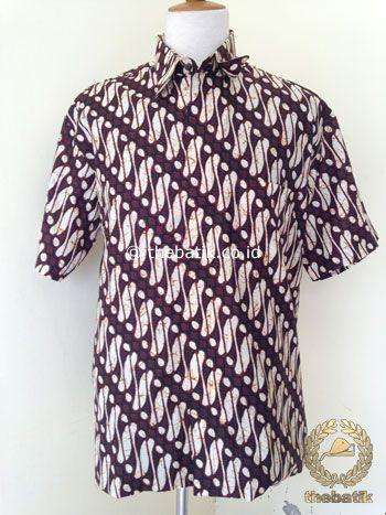 Kemeja Batik Pendek Motif Parang Jogja | #Indonesia Unique  #Batik Tops Shirt #Clothing Men Women http://thebatik.co.id/baju-batik/