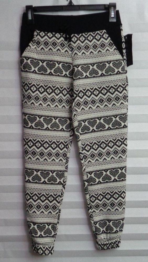 Black Label Premium Black & White Jogger Pants with pockets Jrs Size 7/8 (u) #BlackLabelPremiumProduct #Jogger #Everyday