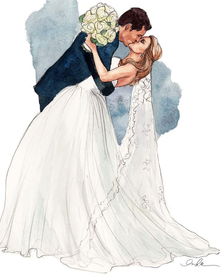Свадебная картинка рисунок, открытки девушками